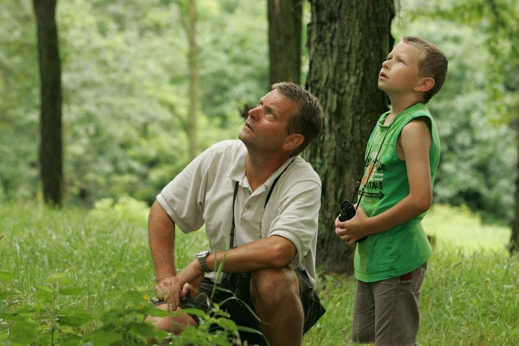 birdwatching-father and son